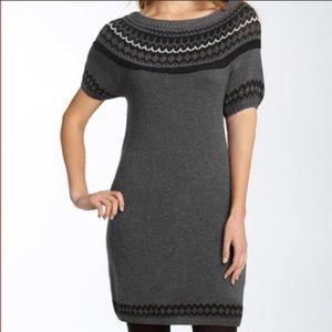 BCBGMAXAZRIA Fair Isles Short Sleeve Sweater Dress